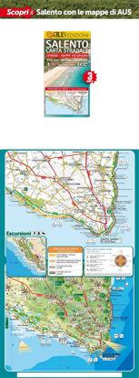 Immagine di Salento Carta Stradale 1: 150.000 Spiagge Mappe Escursioni (piegata)