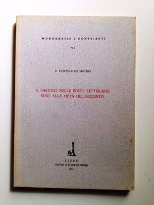 Immagine di Sant'Oronzo nelle fonti letterarie sino alla metà del Seicento