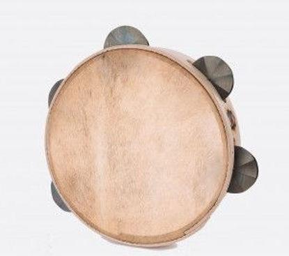 Immagine di Tamburello in legno cm 25 con sonagli TAMBURO A CORNICE CANNEDDHU