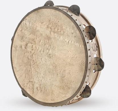 Immagine di Tamburello in legno cm 30 con sonagli TAMBURO A CORNICE PIZZU