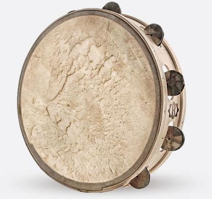 Immagine di Tamburello in legno cm 30 con sonagli TAMBURO A CORNICE ZZAPPA