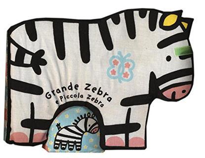 Immagine di GRANDE ZEBRA E PICCOLA ZEBRA - LIBRO DI STOFFA