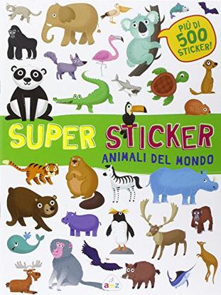Immagine di ANIMALI DEL MONDO. SUPER STICKER. CON ADESIVI