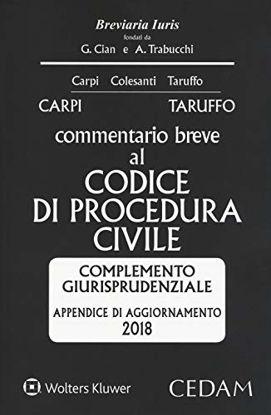 Immagine di COMMENTARIO BREVE AL CODICE DI PROCEDURA CIVILE. APPENDICE DI AGGIORNAMENTO 2018