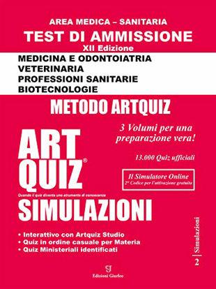 Immagine di ARTQUIZ SIMULAZIONI. TEST DI AMMISSIONE AREA MEDICA SANITARIA