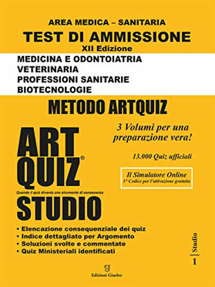 Immagine di ARTQUIZ STUDIO. TEST DI AMMISSIONE AREA MEDICA SANITARIA