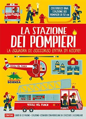 Immagine di STAZIONE DEI POMPIERI. LA SQUADRA DI SOCCORSO ENTRA IN AZIONE! CON STAZIONE-SCENARIO, MODELLINI ...