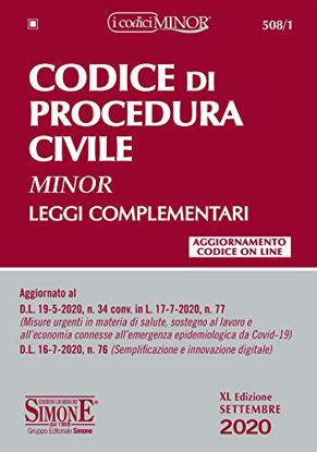Immagine di CODICE DI PROCEDURA CIVILE 2020. LEGGI COMPLEMENTARI. EDIZ. MINOR