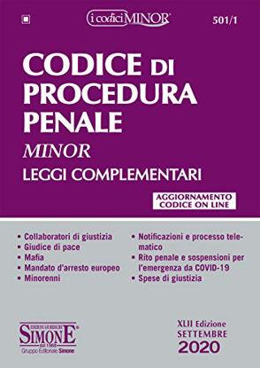 Immagine di CODICE DI PROCEDURA PENALE E LEGGI COMPLEMENTARI 2020. EDIZ. MINOR