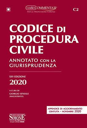 Immagine di CODICE DI PROCEDURA CIVILE 2020. ANNOTATO CON LA GIURISPRUDENZA