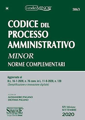Immagine di CODICE DEL PROCESSO AMMINISTRATIVO 2020 MINOR. NORME COMPLEMENTARI