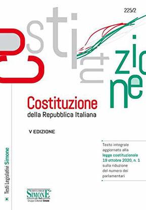 Immagine di COSTITUZIONE DELLA REPUBBLICA ITALIANA. TESTO INTEGRALE AGGIORNATO LEGGE COSTITUZIONALE 19/10/2020