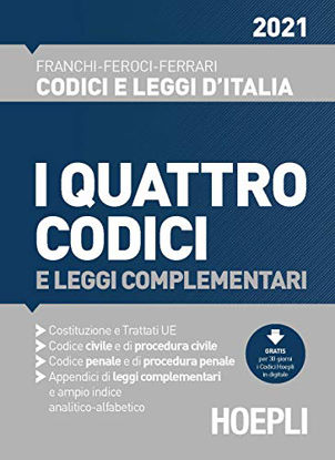 Immagine di QUATTRO CODICI E LEGGI COMPLEMENTARI 2021