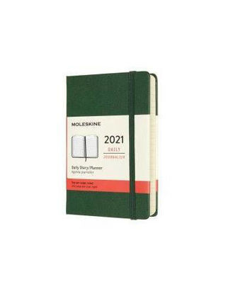Immagine di 12 MONTHS, DAILY. POCKET, HARD COVER, MYRTLE Green 2021