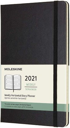 Immagine di 12 MONTHS, WEEKLY, HORIZONTAL. LARGE, HARD COVER, BLACK 2021