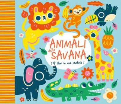 Immagine di ANIMALI DELLA SAVANA. 4 LIBRI IN UNA SCATOLA. EDIZ. A COLORI