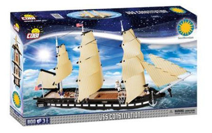 Immagine di FREGATA AMERICANA A TRE ALBERI USS CONSTITUTION COSTRUZIONI 800 PZ - 094955