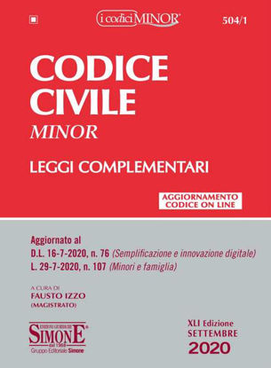 Immagine di CODICE CIVILE MINOR 2020