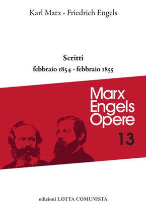 Immagine di MARX ENGELS. OPERE 13 SCRITTI 1854 - 1855