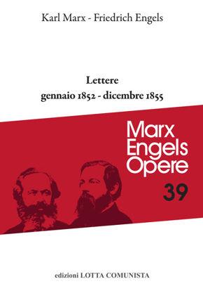 Immagine di OPERE 39. LETTERE GENNAIO 1852 - DICEMBRE 1855