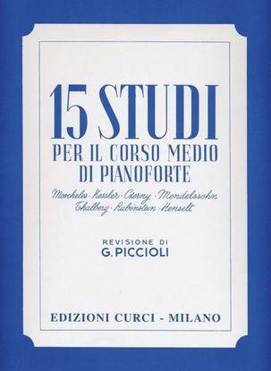 Immagine di 15 STUDI PER IL CORSO MEDIO DI PIANOFORTE