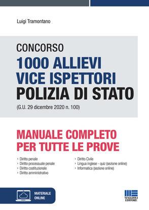 Immagine di CONCORSO 1000 ALLIEVI VICE ISPETTORI POLIZIA DI STATO. MANUALE COMPLETO PER TUTTE LE PROVE.