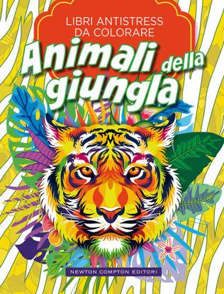 Immagine di ANIMALI DELLA GIUNGLA. LIBRI ANTISTRESS DA COLORARE