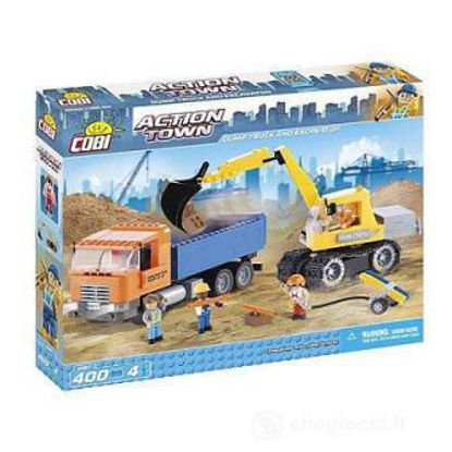 Immagine di ACTION TOWN /1667/ DUMP TRUCK AND EXCAVATOR