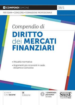 Immagine di COMPENDIO DI DIRITTO DEI MERCATI FINANZIARI 2021