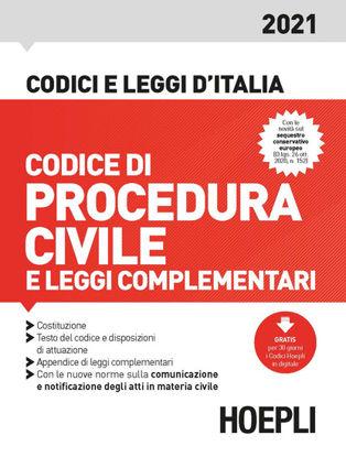 Immagine di CODICE DI PROCEDURA CIVILE E LEGGI COMPLEMENTARI 2021