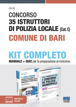 Immagine di CONCORSO 35 ISTRUTTORI DI POLIZIA LOCALE (CAT. C) COMUNE DI BARI. KIT COMPLETO