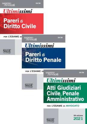 Immagine di ULTIMISSIMI PARERI (3 VOLUMI) ATTI GIUDIZIARI CIVILE, PENALE AMMINISTRATIVO; PENALE; CIVILE