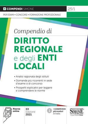 Immagine di COMPENDIO DI DIRITTO REGIONALE E DEGLI ENTI LOCALI 2021