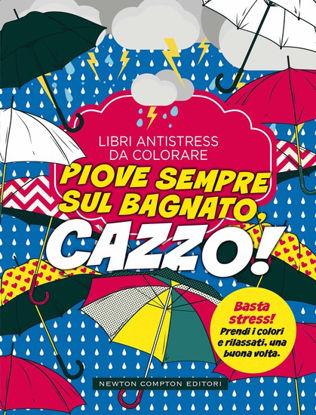 Immagine di PIOVE SEMPRE SUL BAGNATO CAZZO. LIBRI ANTISTRESS DA COLORARE