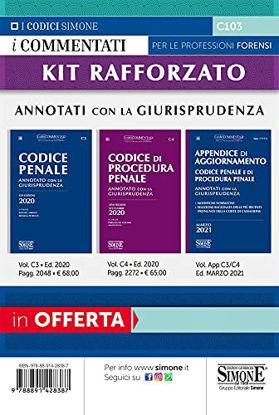 Immagine di KIT ORALE RAFFORZATO: CODICE PENALE-CODICE PROCEDURA PENALE-APPENDICE DI AGGIORNAMENTO MARZO 2021.