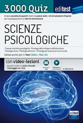 Immagine di EDITEST. SCIENZE PSICOLOGICHE. 3000 QUIZ. AMPIA RACCOLTA DI QUESITI TRATTI DA PROVE REALI E 10 S...