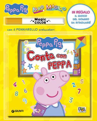Immagine di CONTA CON PEPPA. ALBO MAGICO. PEPPA PIG. EDIZ. ILLUSTRATA. CON GADGET