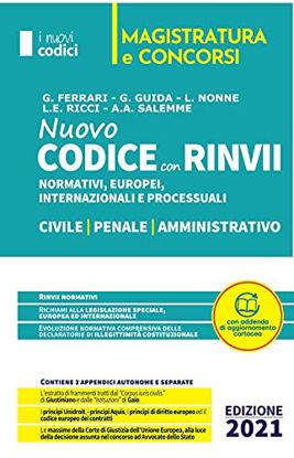 Immagine di NUOVO CODICE DEI RINVII. CIVILE, PENALE, AMMINISTRATIVO. 2021